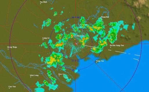 Đang mưa giông trên diện rộng tại TP HCM - Ảnh 2.