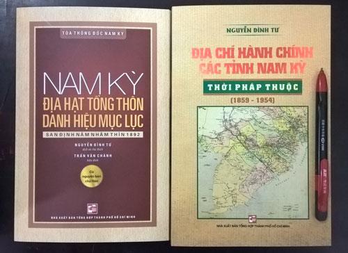 Thêm 2 tập khảo cứu về Nam Kỳ của nhà nghiên cứu Nguyễn Đình Tư - Ảnh 1.