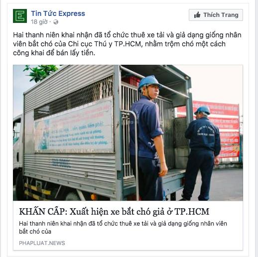 Thực hư chuyện xuất hiện xe bắt chó giả ở TP HCM - Ảnh 1.