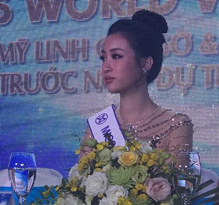 Đỗ Mỹ Linh mang Cõng điện lên bản tranh vương miện Hoa hậu Thế giới - Ảnh 1.