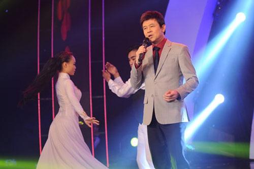 Ca sĩ Thái Châu trình diễn trong chương trình Sol Vàng. (Ảnh do chương trình cung cấp)