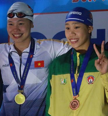 Vũ Thị Phương Anh: Hai lần thắng Ánh Viên - Ảnh 1.