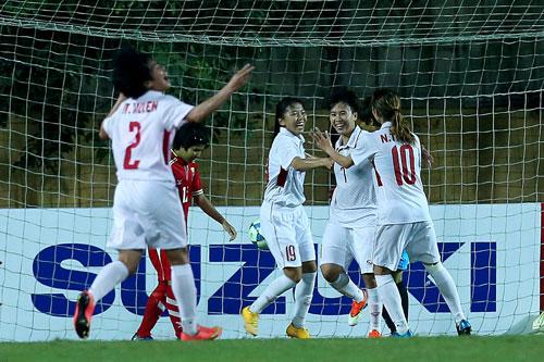 Tuyển nữ Việt Nam giành vé dự VCK Asian Cup 2018