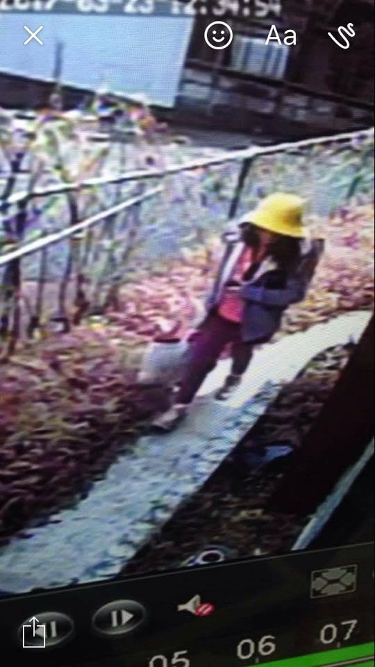 Hình ảnh cuối cùng của bé Nhật Linh được camera ghi lại khi ra khỏi nhà đi đến trường. Ảnh: FACEBOOK