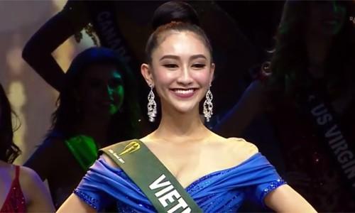 Hà Thu dừng chân tốp 16 Hoa hậu Trái đất 2017 - Ảnh 1.