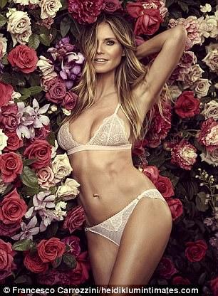 Siêu mẫu Heidi Klum khoe dáng với nội y - Ảnh 1.