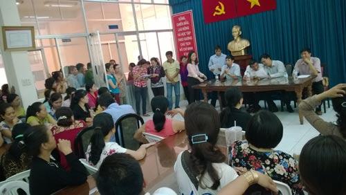 Một vụ tranh chấp lao động tại TP HCM trong năm 2016