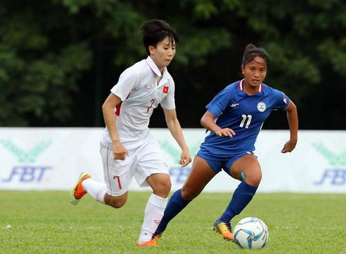 Ghi 3 bàn những phút cuối, nữ Việt Nam thắng đậm Philippines - Ảnh 3.