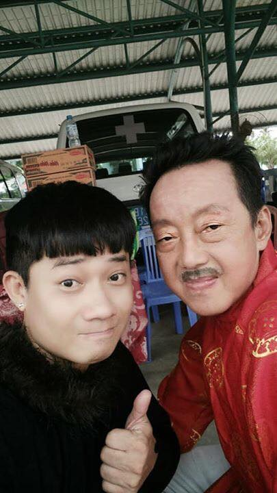 Diễn viên điện ảnh Chấn Cường và NS hài Khánh Nam