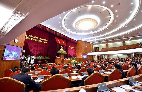 Chủ tịch nước điều hành ngày làm việc đầu tiên của Hội nghị Trung ương 6 - Ảnh 1.