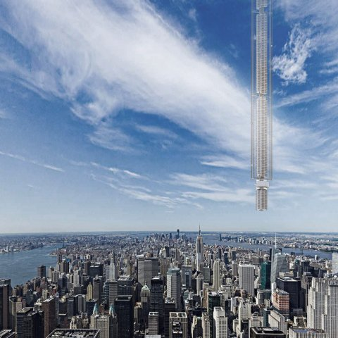 Tòa nhà được xây từ trên trời xuống Ảnh: CLOUDS AO