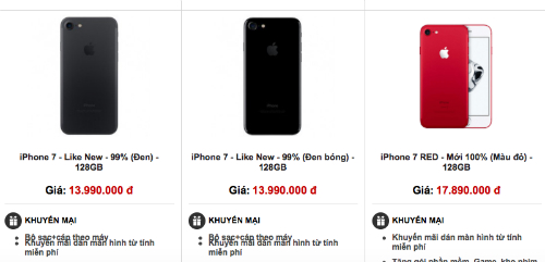 iPhone 7 giá rẻ đổ bộ vào Việt Nam - Ảnh 1.