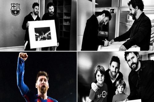 Messi tri ân nhiếp ảnh gia Santiago Garces
