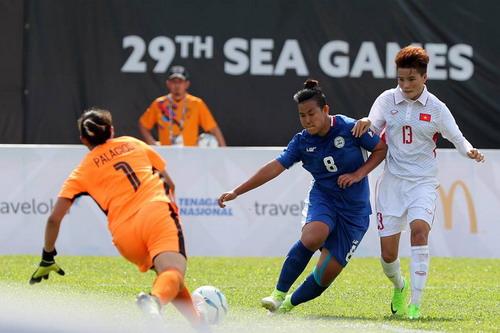 Ghi 3 bàn những phút cuối, nữ Việt Nam thắng đậm Philippines - Ảnh 2.