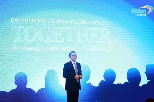Ông Seokhee Won, Tổng Giám đốc Masan Consumer, trình bày kết quả và chiến lược kinh doanh của Masan Consumer