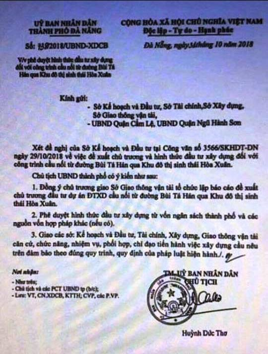 Đà Nẵng lên tiếng văn bản giả mạo UBND thành phố để tạo cơn sốt đất - Ảnh 1.