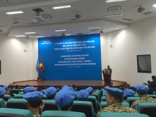Ra mắt bệnh viện dã chiến số 2 của Việt Nam - Ảnh 9.
