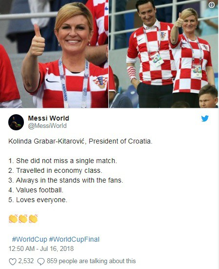 Nữ tổng thống Croatia đốn tim hàng triệu fan trên thế giới - Ảnh 6.