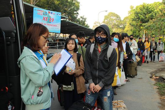 Sinh viên được đưa về quê đón Tết miễn phí - Ảnh 7.
