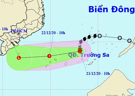 Bão số 14 đã suy yếu thành áp thấp nhiệt đới - Ảnh 1.