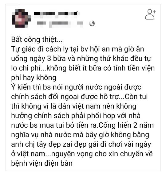 Quảng Nam: Không có chuyện người bị cách ly tự lo tiền ăn uống - Ảnh 1.