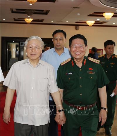 Chùm ảnh Tổng Bí thư, Chủ tịch nước Nguyễn Phú Trọng chủ trì Hội nghị Quân ủy Trung ương - Ảnh 2.