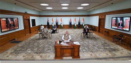 Cú bắt tay chiến lược giữa Úc và Ấn Độ - Ảnh 1.