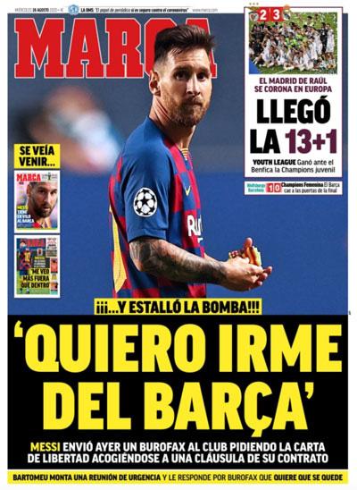 Messi quyết rời Barcelona - Ảnh 1.