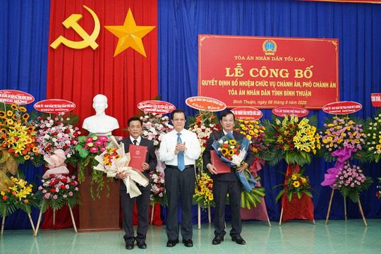 Bình Thuận có tân Chánh án, Phó chánh án tòa tỉnh - Ảnh 1.