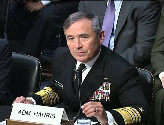 Đô đốc Harry Harris. Ảnh: Youtube