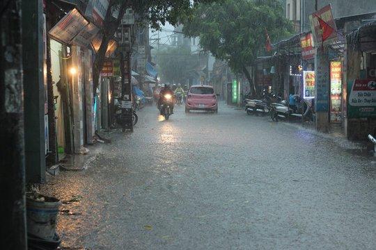 Sau đợt nắng nóng kỷ lục, Hà Nội mưa gió giông lốc đổ cây - Ảnh 1.