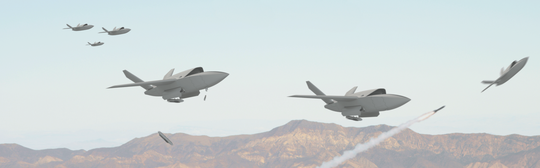 Phi công lái chiến đấu cơ đi kèm sẽ theo dõi chiếc UAV từ một máy tính bảng Android nhỏ. Ảnh: KRATOS