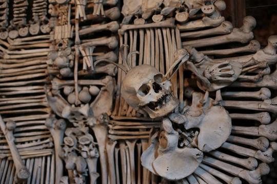 Bên trong nhà thờ trang trí bằng xương người độc nhất thế giới - Ảnh 10.