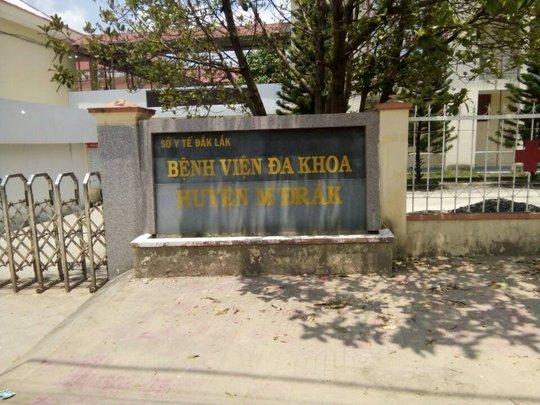 Bệnh viện Đa khoa huyện MĐrắk nơi cháu T tử vong