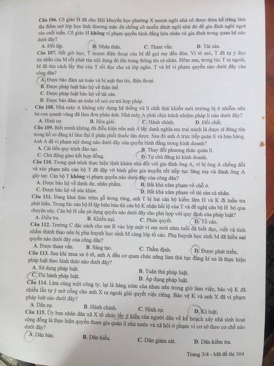 Thú vị với đề thi Giáo dục công dân - Ảnh 4.