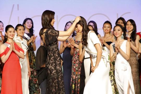 Cận cảnh nhan sắc Tân Hoa hậu Hoàn vũ Nhật Bản - Ảnh 1.