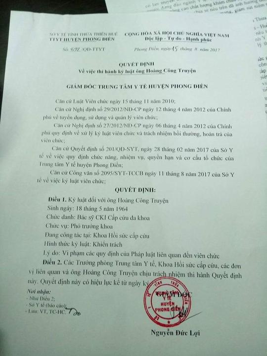 Vụ bôi nhọ Bộ trưởng Y tế: Sở TT-TT sẽ rút xử phạt, xin lỗi bác sĩ - Ảnh 1.