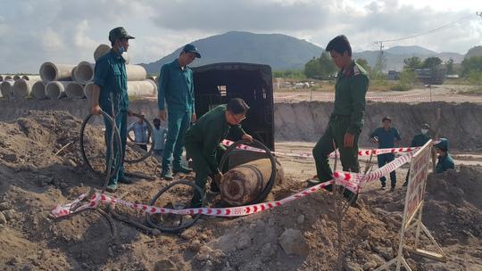 Lực lượng chức năng đã tháo gỡ quả bom an toàn
