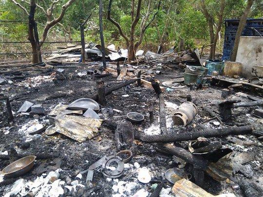 Nhà cháy rụi, cô giáo ở Phú Quốc bị bỏng rất nặng - Ảnh 3.