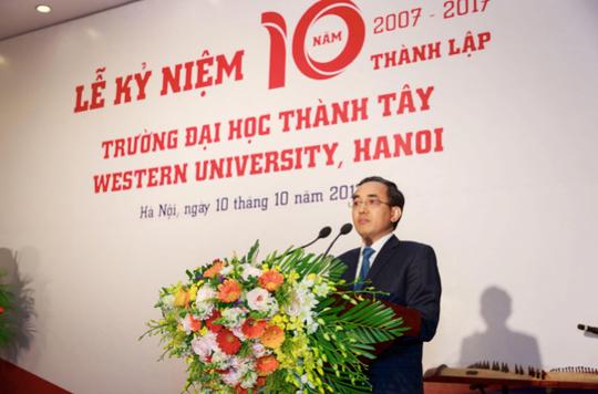 Người giàu nhất sàn chứng khoán trở thành chủ tịch Trường ĐH Thành Tây - Ảnh 1.