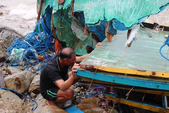 Bão số 2: Tan hoang ở cảng Hòn La sau bão đi qua - Ảnh 3.