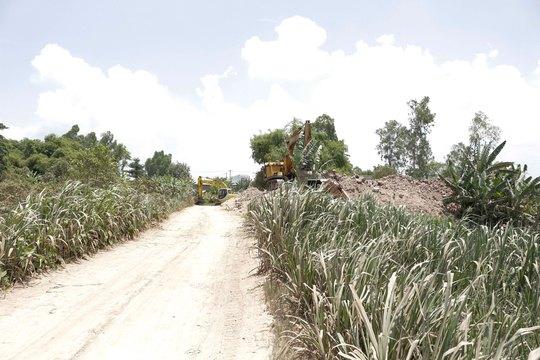 Các ngành chức năng huyện Chợ Mới xây dựng khu dân cư mới để bố trí chỗ ở cho các hộ dân trong vụ sạt lở