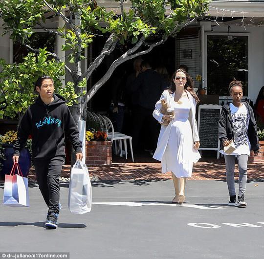 Pax Thiên tháo vát hộ tống Angelina Jolie - Ảnh 1.