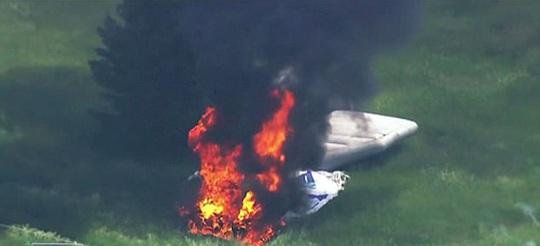 Khinh khí cầu rơi ở US Open, một người phỏng nặng - Ảnh 2.