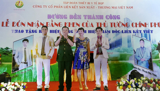 Công ty Liên Kết Việt chi tiền làm giả bằng khen của Thủ tướng rồi tự tặng mình. Ảnh: TRANG WEB LIÊN KẾT VIỆT