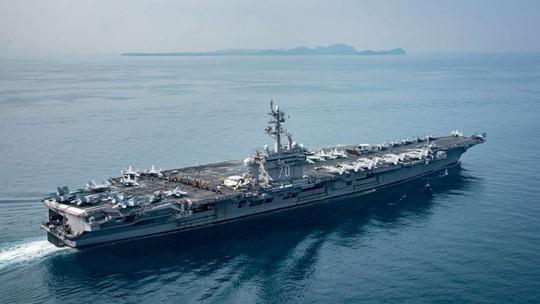 Bức ảnh mới nhất về tàu sân bay Mỹ USS Carl Vinson. Ảnh: SCMP