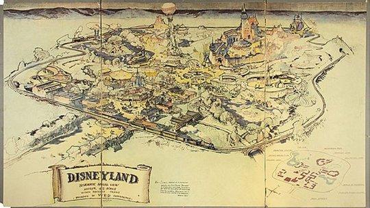 Bản đồ đầu tiên của Disneyland bán giá khủng - Ảnh 1.