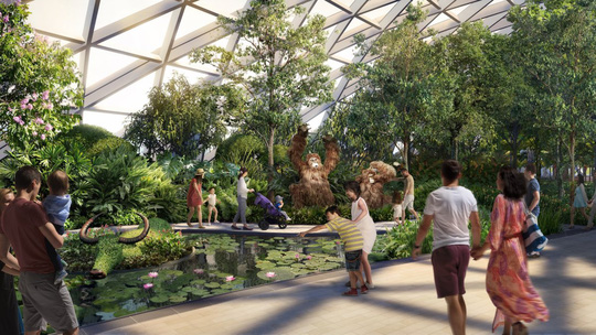 Sân bay Changi đưa thác nước, rừng nhân tạo vào nhà - Ảnh 8.
