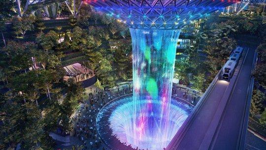 Sân bay Changi đưa thác nước, rừng nhân tạo vào nhà - Ảnh 6.
