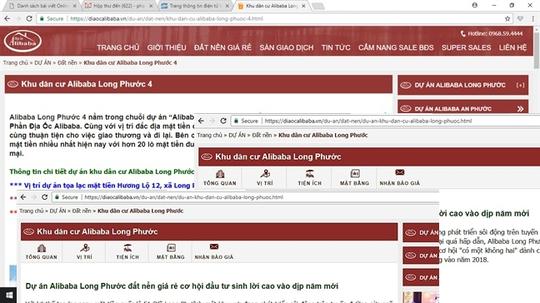 Các trang web liên quan đến Alibaba đóng cửa sau cảnh báo của HoREA - Ảnh 2.